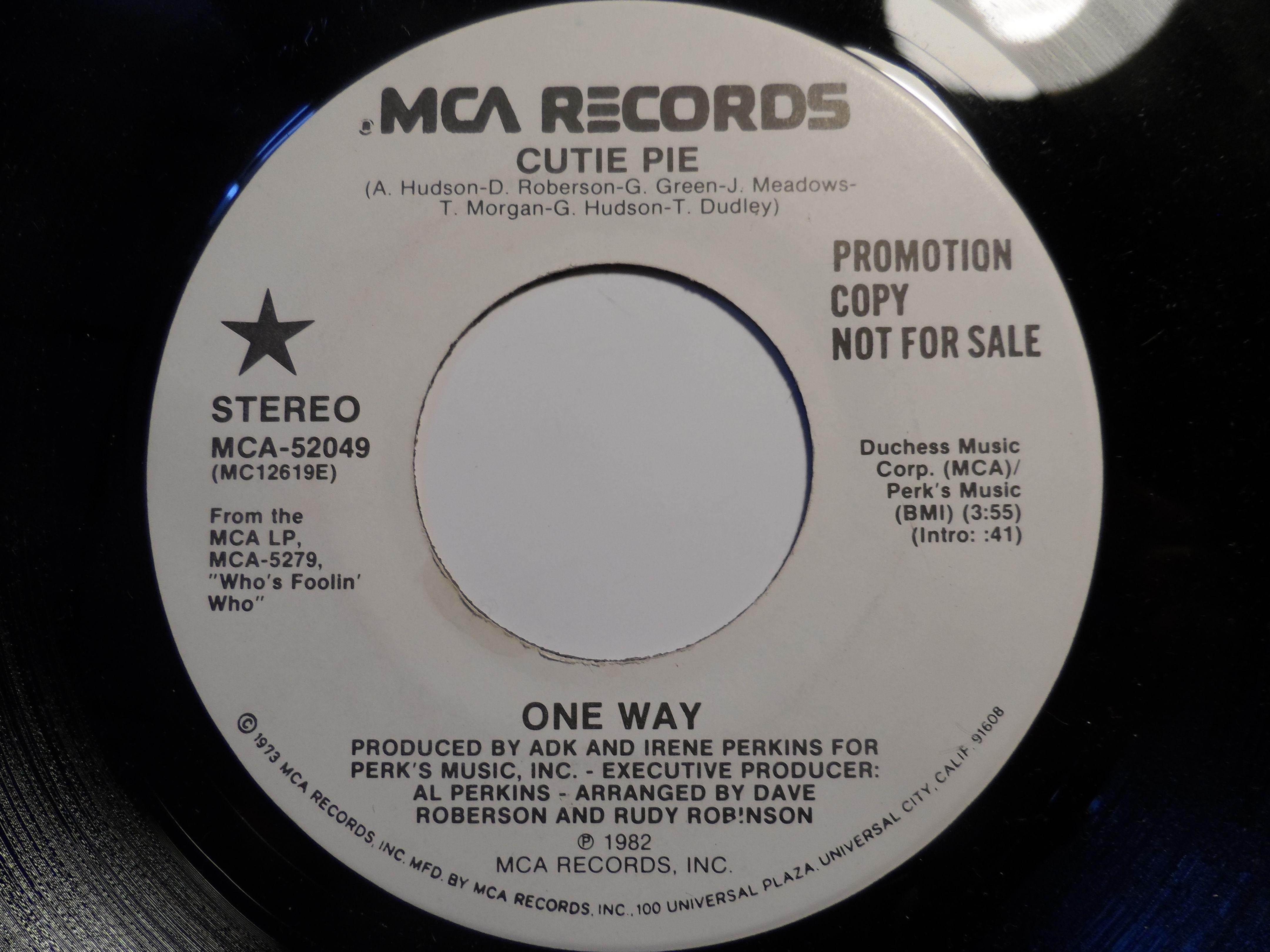 One Way Cutie Pie Records Cutie Music Record