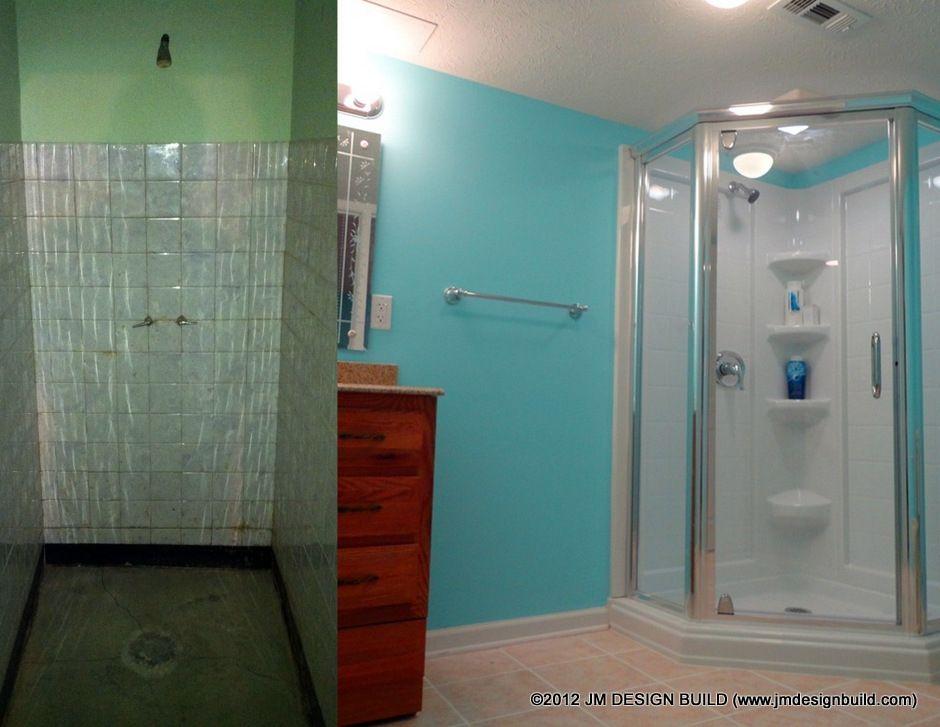 Bathroom Remodel Brooklyn, OH/ Complete Bathroom Renovation/ Vibrant Blue  Bathroom/ Roomy,