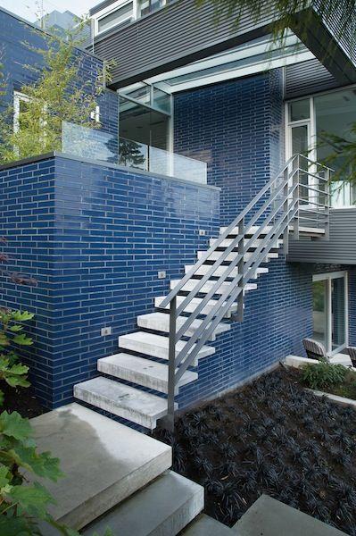 Ceramic Glazed Brick- Cobalt Blue