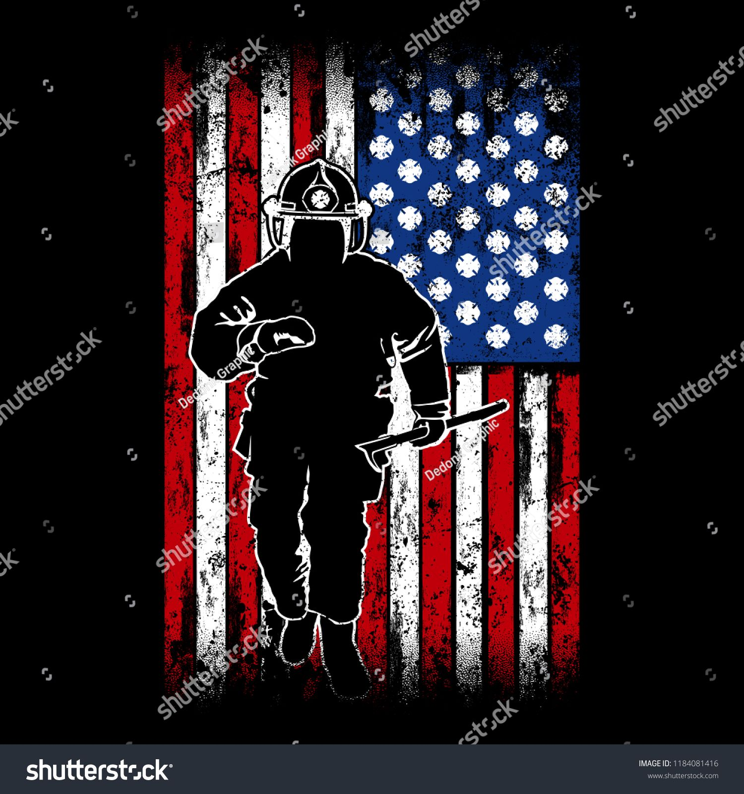 Running Firefighter With A American Flag As Backgroundfirefighter Running American Background American Flag Background American Flag Firefighter