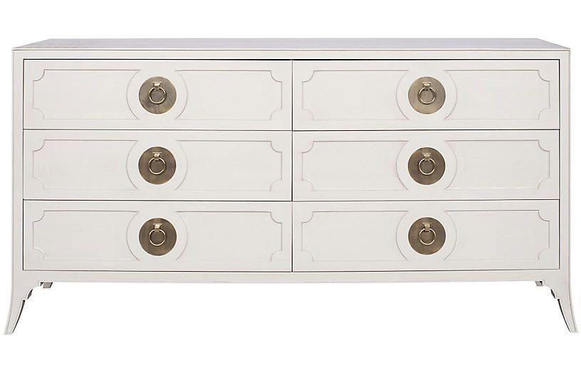 West End 6 Drawer Dresser Light Gray Dressers Dressers Armoires Bedroom Furniture One Kings Lane