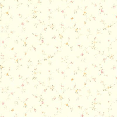 "Brewster Home Fashions Rebecca Floral Trail 33' x 20.5"" Wallpaper Roll Color:"