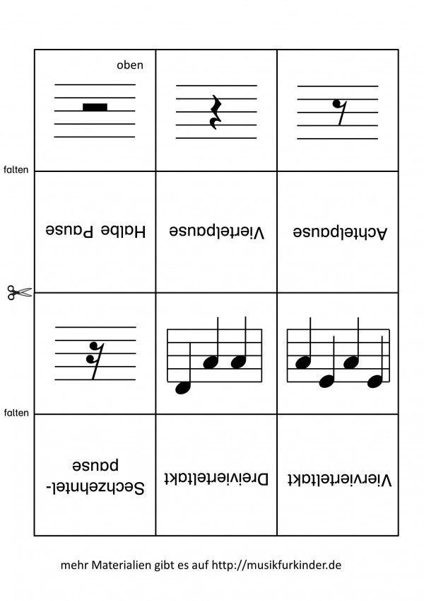 notenwerte memory lernkarten 2 projekt ogs musik musik lernen und musik schule. Black Bedroom Furniture Sets. Home Design Ideas