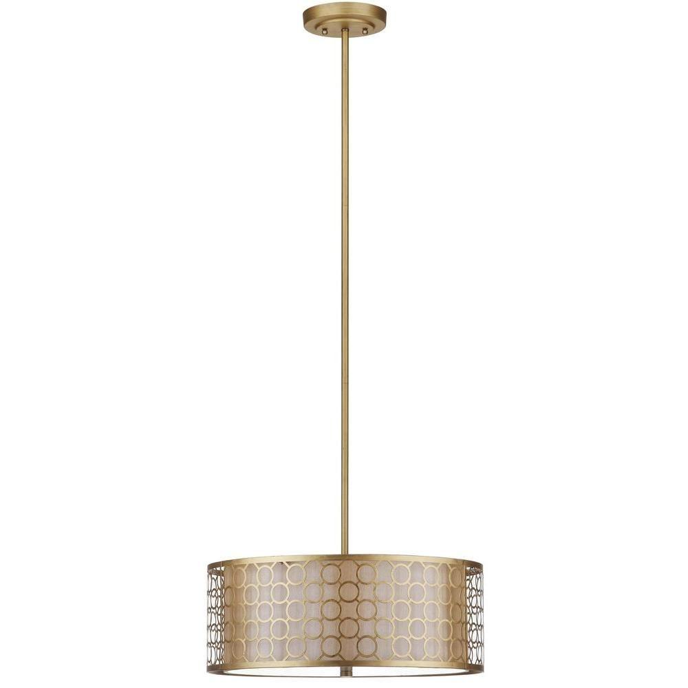 Safavieh Giotta Drum 3-Light Antique Gold Pendant