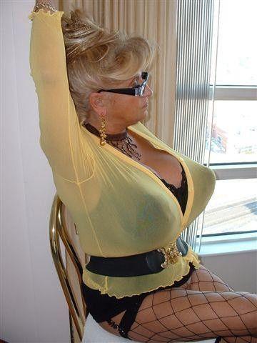 Huge lady mature tit