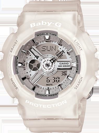 Ba110 7a2 Baby G White Womens Watches Casio Baby G G Shock Watches Baby G Shock White Watches Women