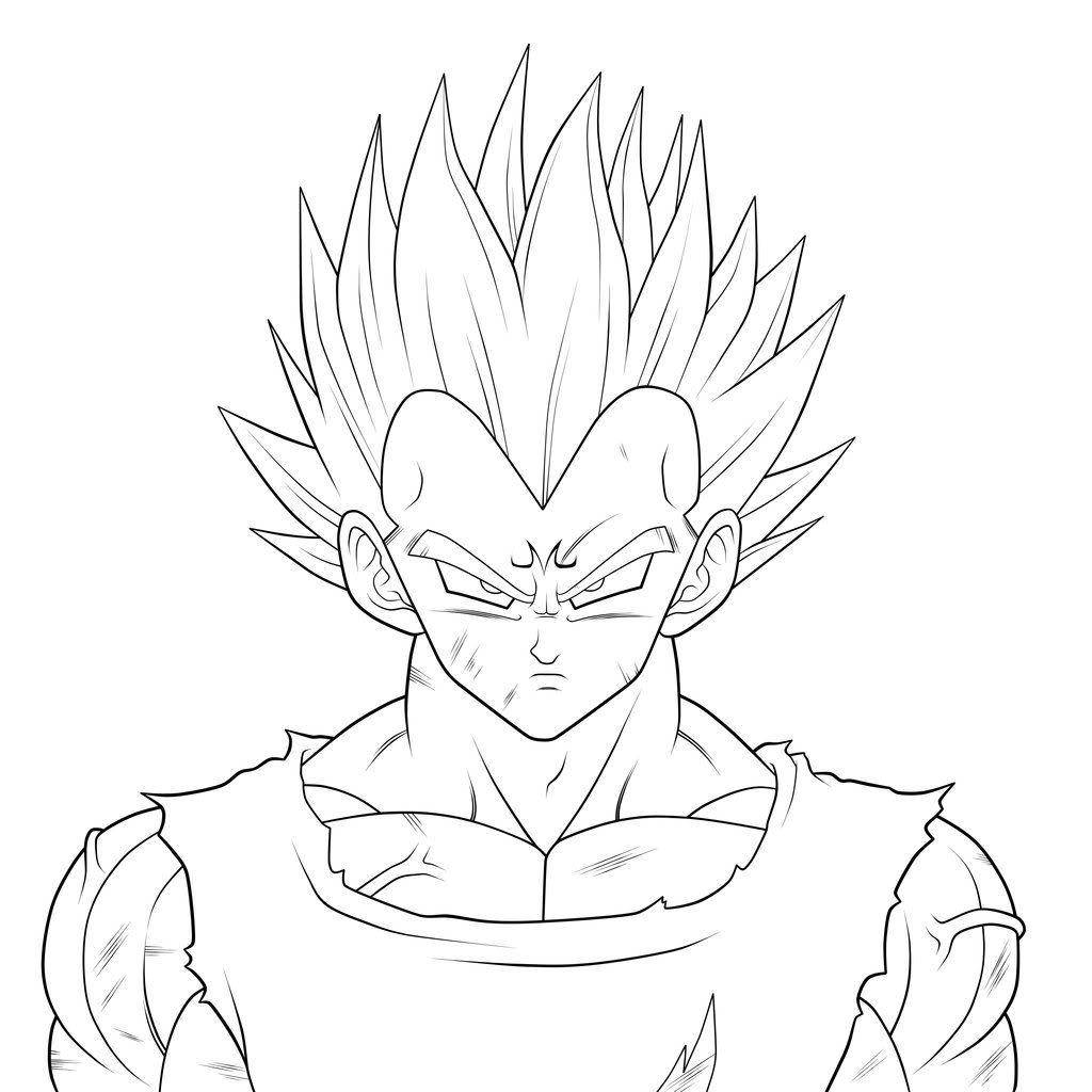 Dibujos De Vegeta Para Colorear Dibujo De Goku Dibujos Y Goku