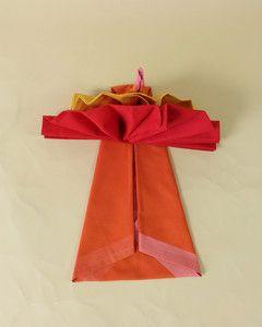 Turkey Napkin Fold #foldingnapkins