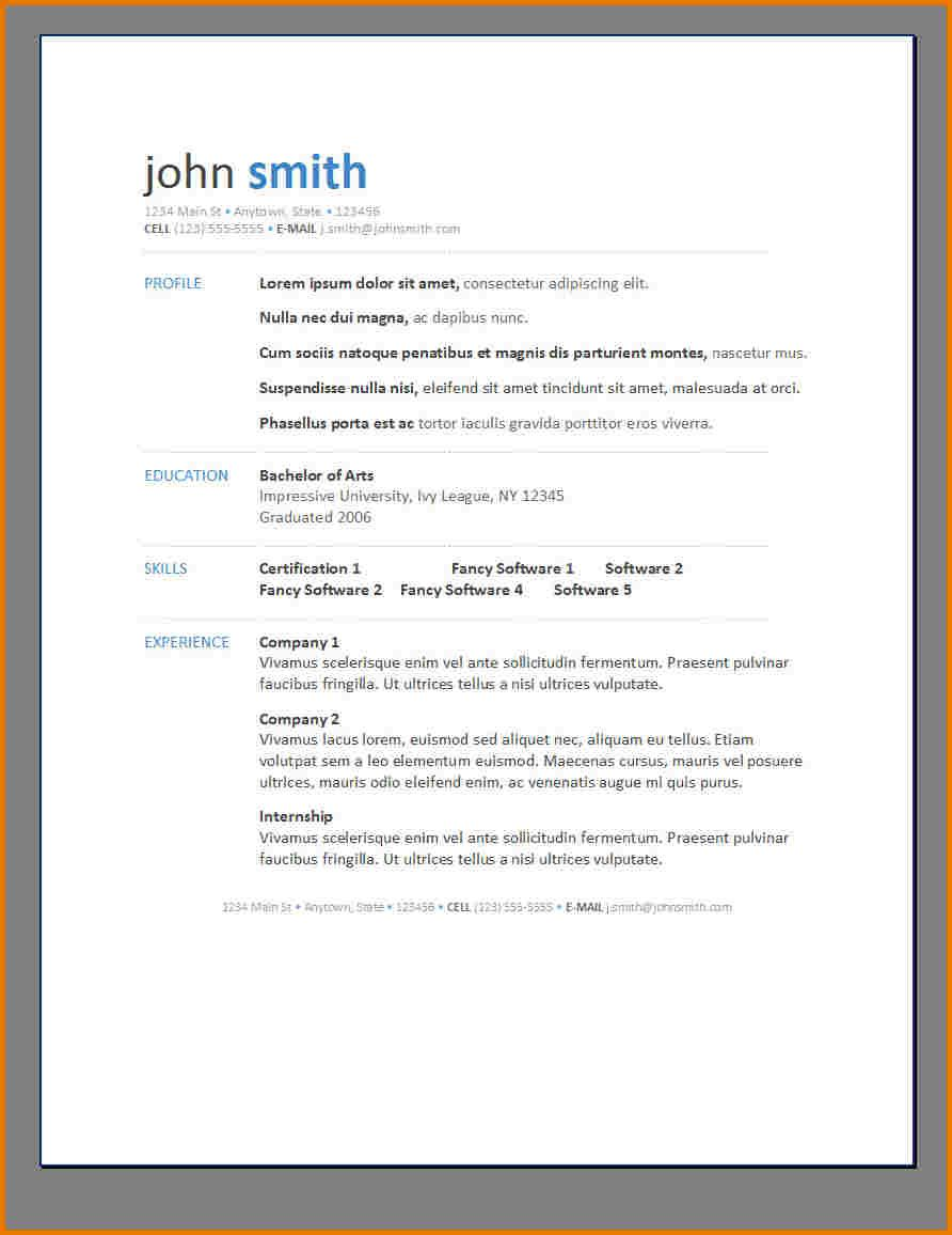 Contemporary Resume Templates Free And Template Creative Word With