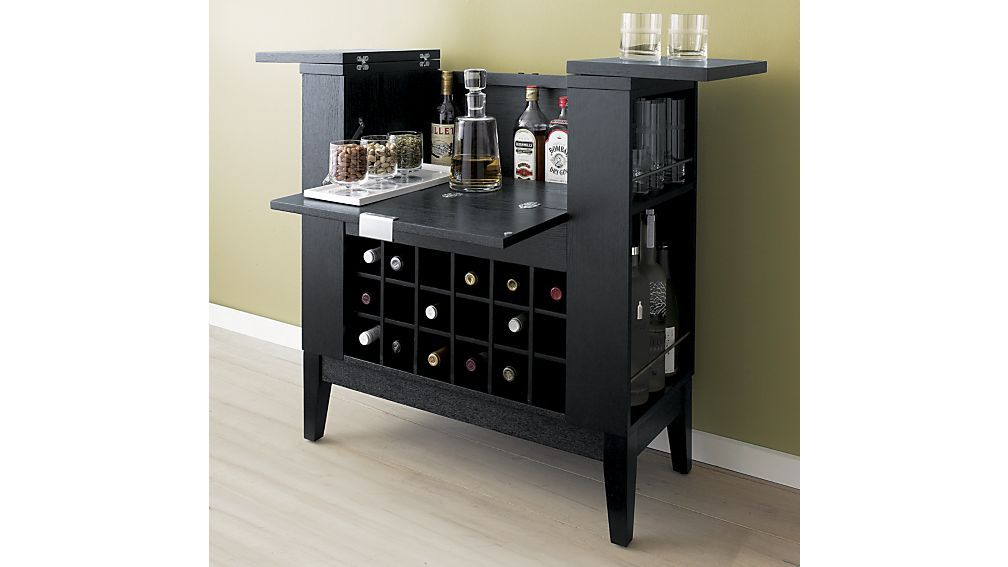 Parker Spirits Ebony Cabinet Crate And Barrel With
