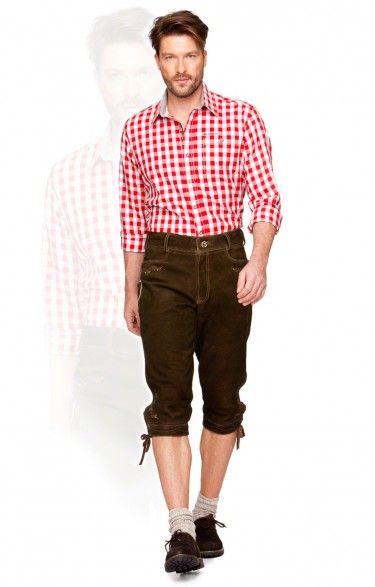 German leather trousers knee length Sigmar2 hazel antique  007e93d04