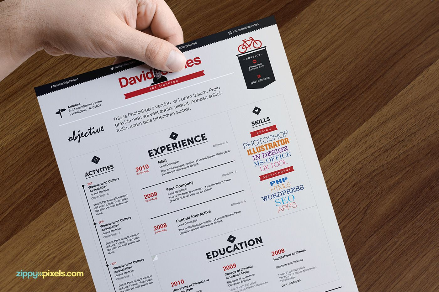Creative Executives Resume  Cover Letter Template On Behance