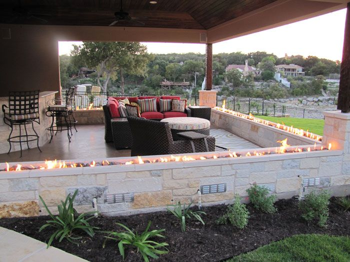 Lovely Image Of: Patio Outdoor Gas Fire Pit