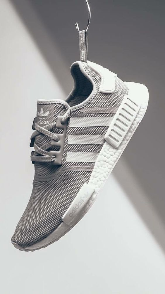 grey adidas trainers for men