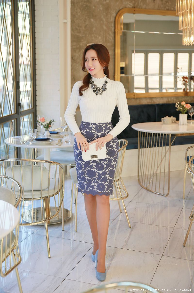 b31779869 Fashion women work Chic Skirt from Styleonme Korean Fashion