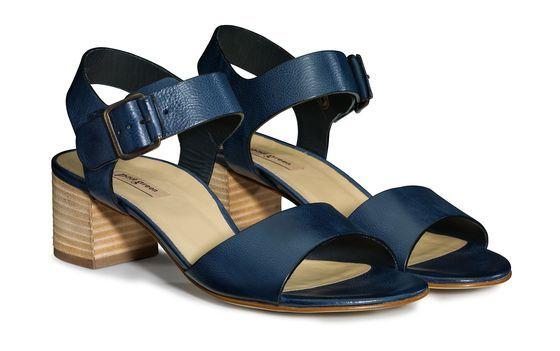 Glitzernde Sandale mit schmalem Absatz Blau QYJT3m