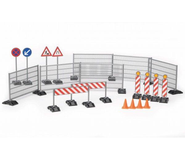 Bruder Bworld Bouwplaats Accessoires Set 62007 Speelgoed Verkeersborden Waarschuwingsborden