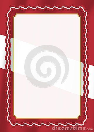 Frame and border of ribbon with Latvia flag, template elements for ...