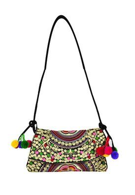 Womdee Handmade Ethnic Style Tote Shoulder Messenger Embroidery Hobo Handbags With Womdee Accessory