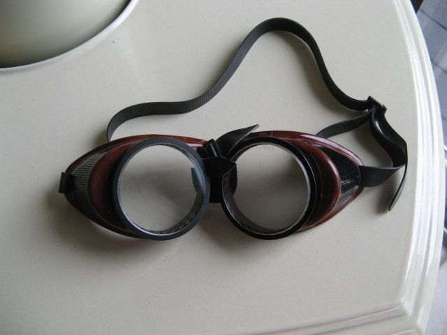Vintage MSA Safety Goggles Steampunk Motorcycle Welding