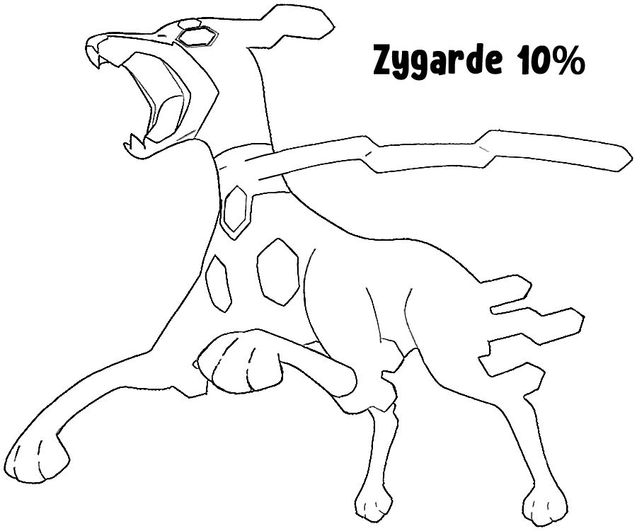 Zygarde 10 Forme Pokemon Coloring Page Sun Moon In 2020 Pokemon