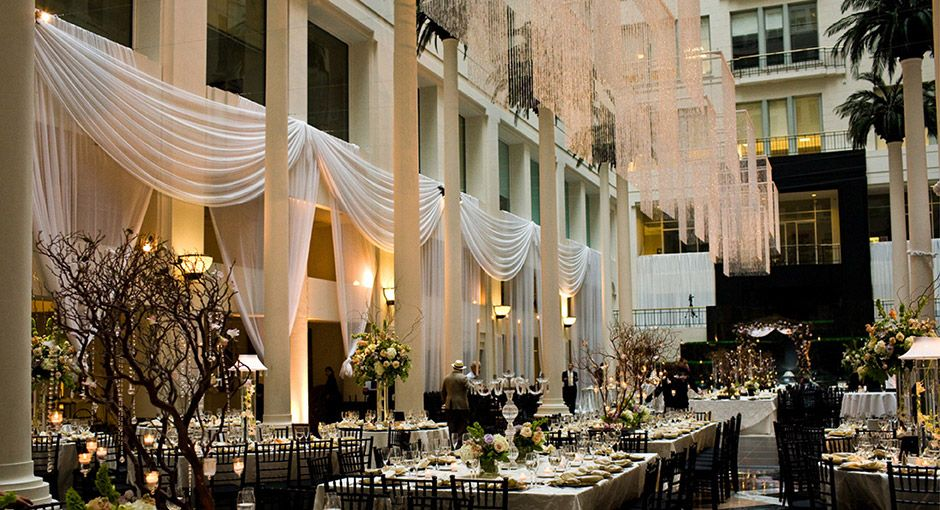 Philadelphia Wedding Venues Atrium At Curtis Center Amenities Cescaphe