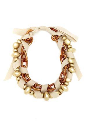 Adia Kibur Twisted Ribbon Necklace