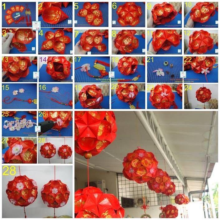 Chinese New Year DIY lantern … | Ornamen, Hiasan