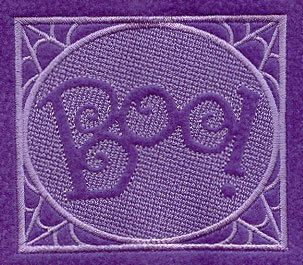 BOO Embossed Square