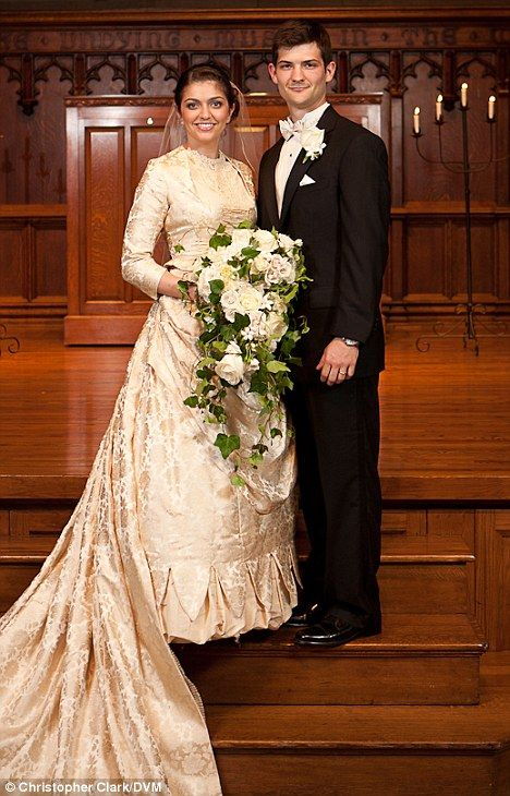 8566ca450c02 Bride has something old sorted as she weds in 127-year-old dress ...