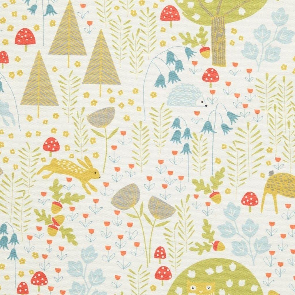 Fat quarter forêt enchantée dans bleu marine coton quilting tissu-dashwood