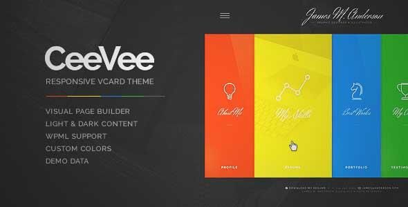 Download And Review Of Ceevee Responsive Cv Resume WordPress Theme One Of The Best Themeforest Creatives