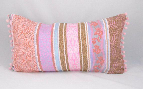 Sale Pink Bohemian Lumbar Cushion Cover. Fits a 12 x