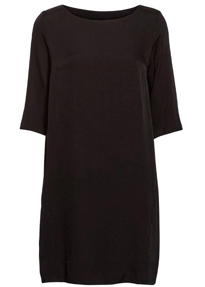 c0682d024adf Önling Silkekjole sort 43007 Sustainable Silk Simple Dress - black – Acorns