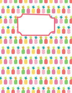 Free Printable Pineapple Binder Cover Template Download The Cover