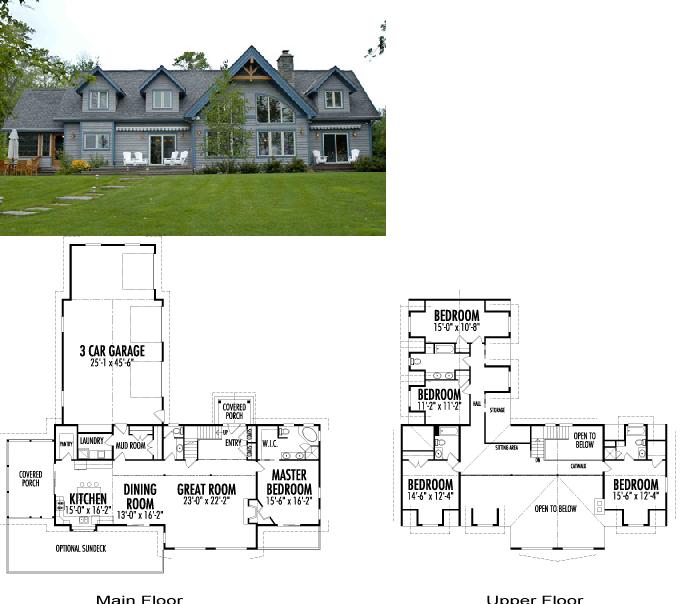 Este plano de casa americana destaca por la hermosura de for Casas americanas fachadas