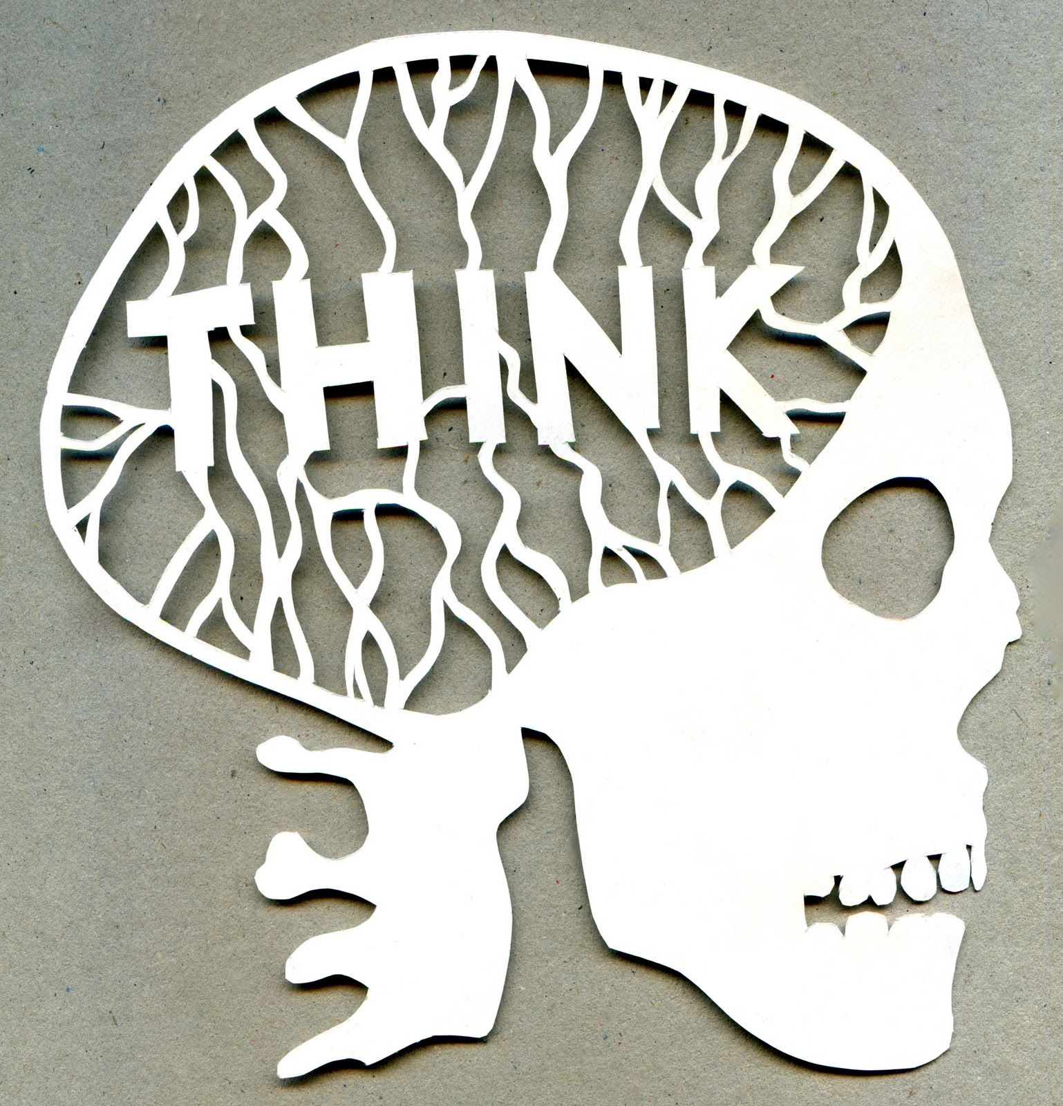 THINK! skull cut out | Everything about cut outs <3 <3 | Pinterest ...