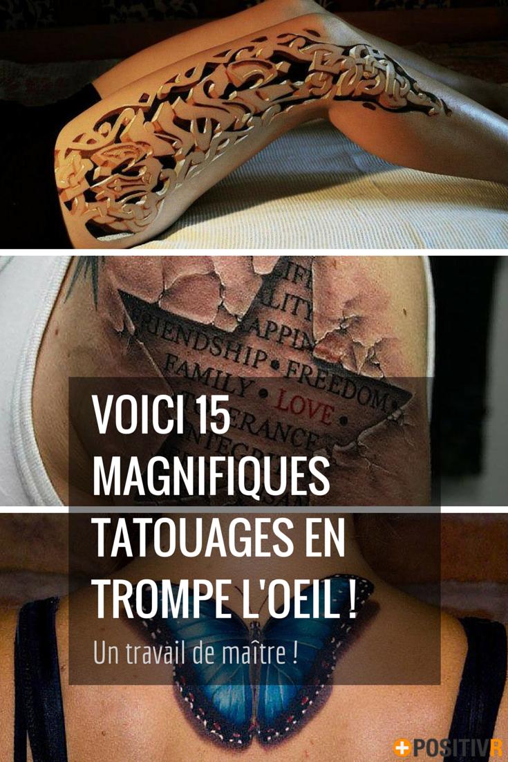 Ces 15 Tatouages En Trompe L œil Vont Vous Bluffer Par Leur Realisme