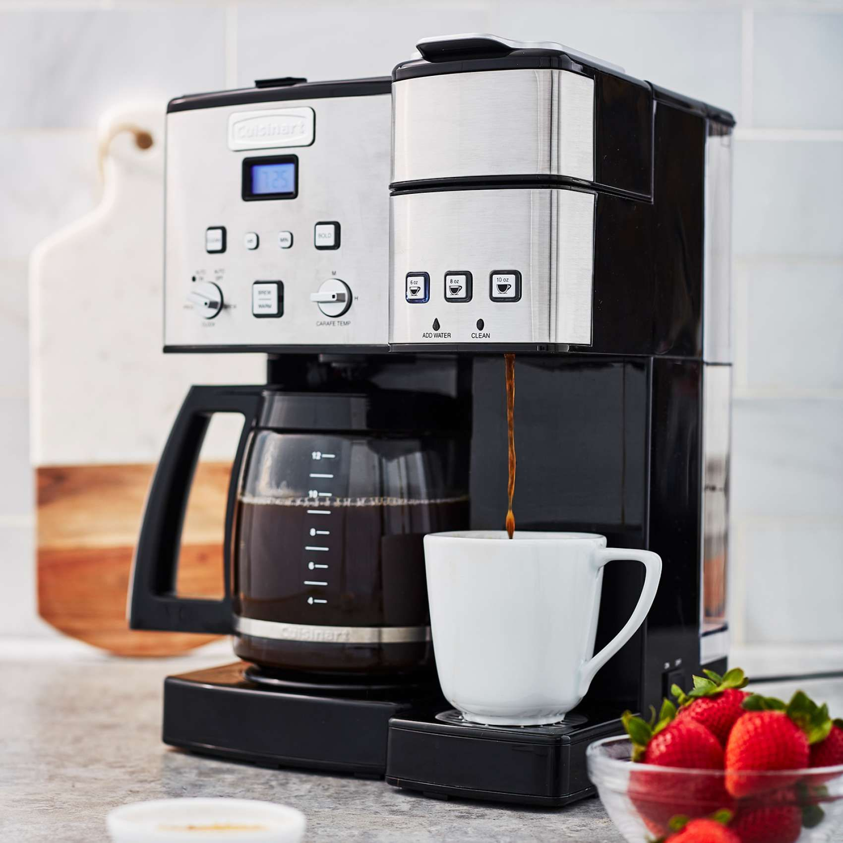 Cuisinart Coffee Center 12 Cup Coffee Maker And Single Serve Brewer Sur La Table Cuisinart Coffee Maker Drip Coffee Maker Coffee