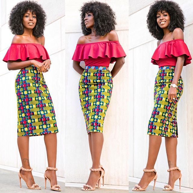 Pin By Elizabeth Aso On African Fashion Pinterest Printed Pencil