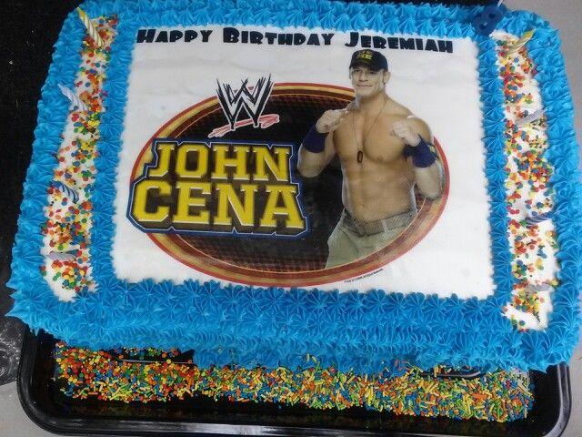 wwe wrestling john cena cake By wwwjennjinscupcakescom Cenation