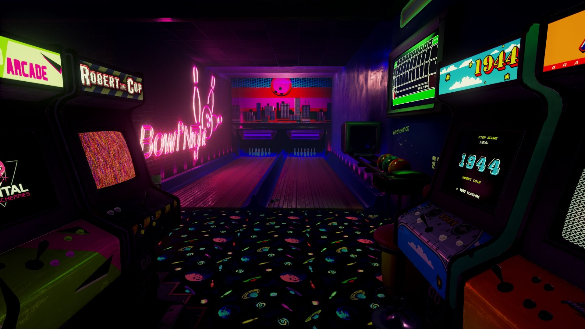 New Retro Arcade Neon 5 in 2020 Room wallpaper designs