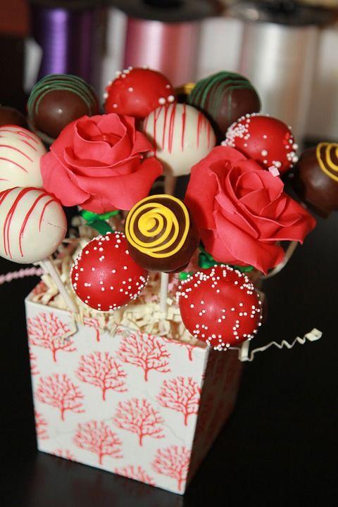 Free Image on Pixabay - Cake Pops, Bouquet, Gift, Box #cakepopbouquet