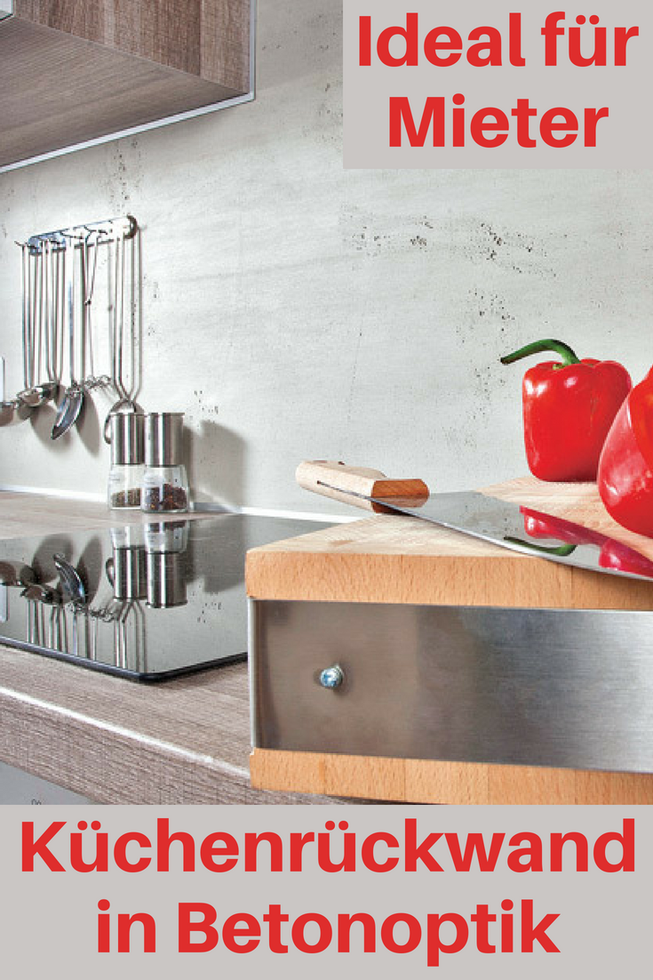 Kuchenruckwand Betonoptik Kuche Kitchen Interior Design Und