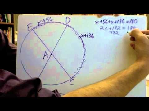 Central Angles And Arc Measures Semicircles Or Half Circles