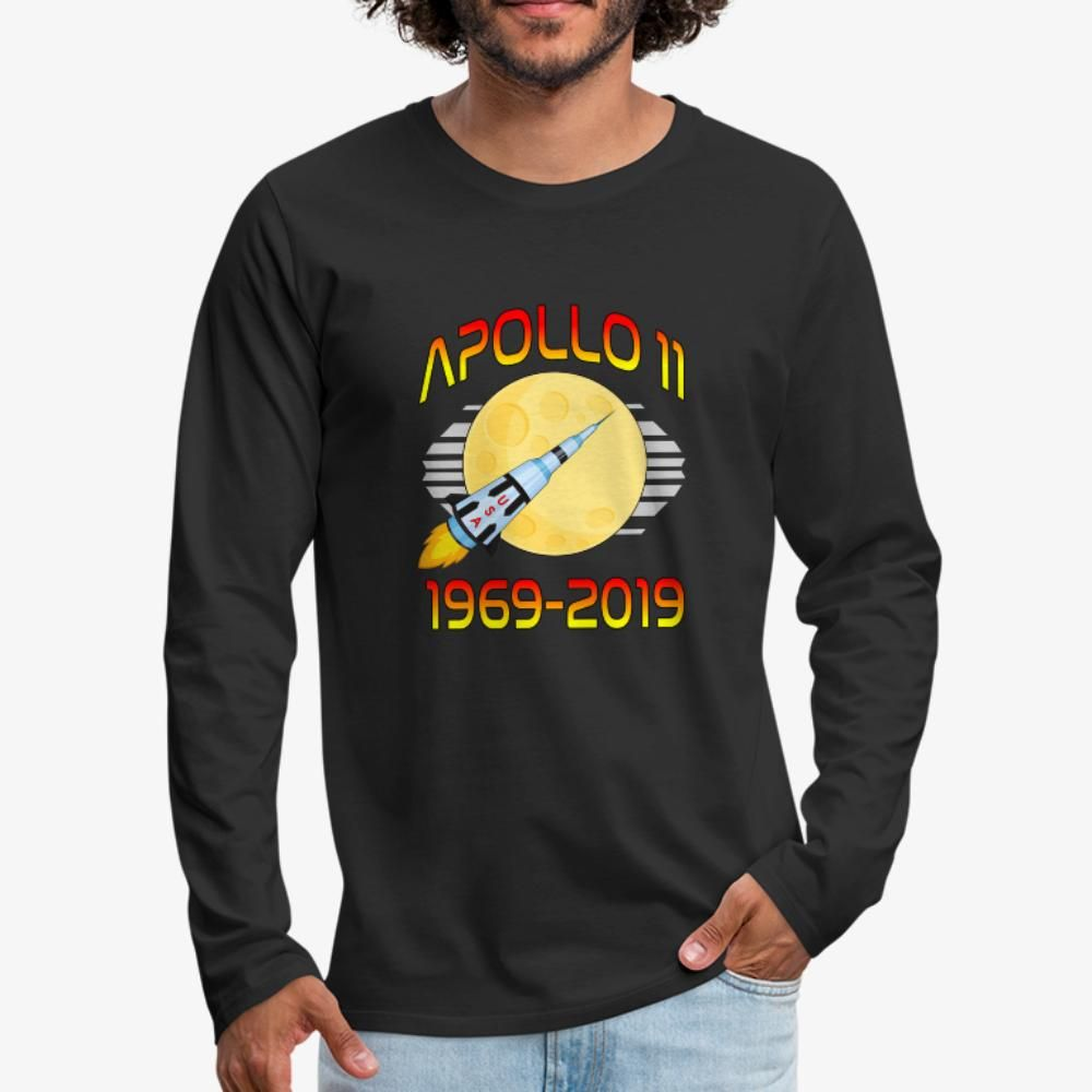 50th Anniversary Apollo 11 Moon Landing T-Shirt Black