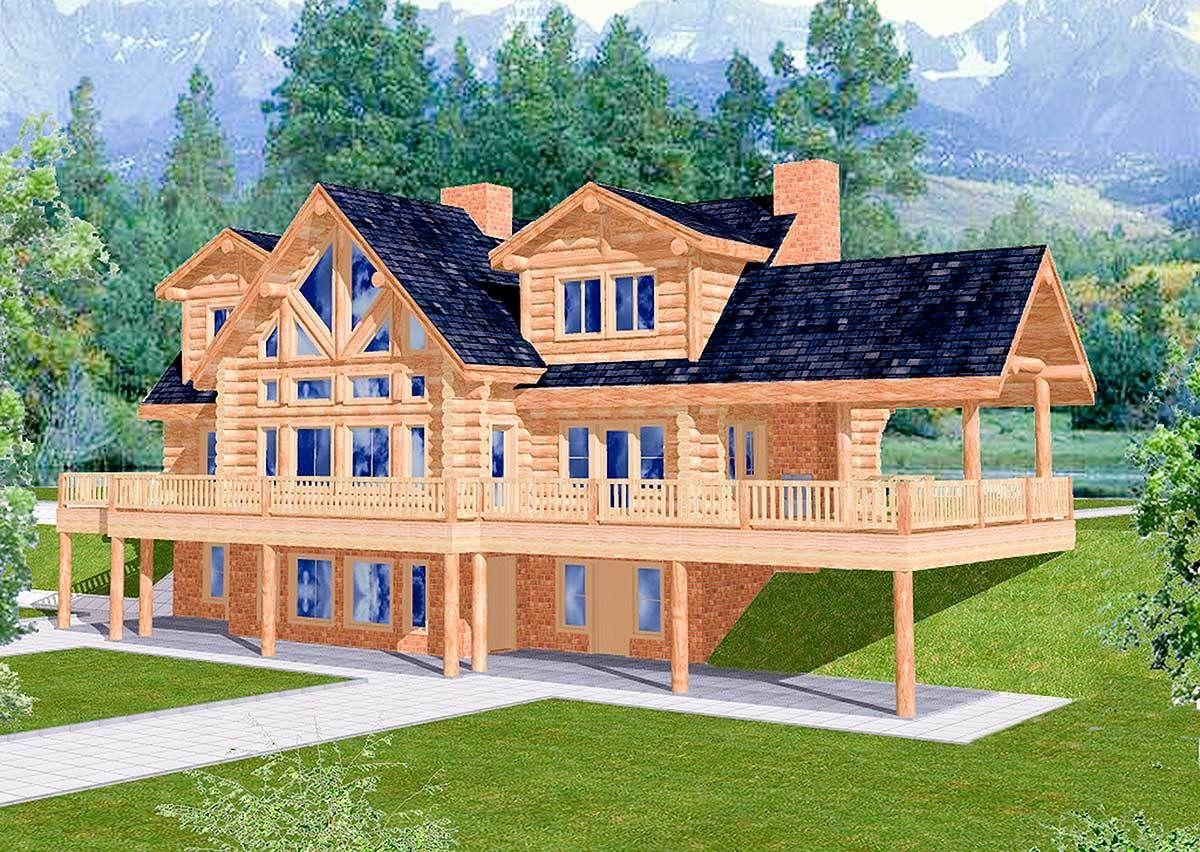Plan 35121gh  Spacious Log Home Plan