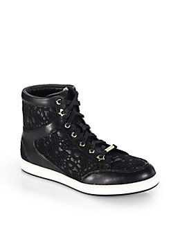 d0c23ae26a9 ... coupon code for jimmy choo tokyo lace leather high top sneakers 3a79e  298a1