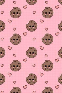 Choc Chip Cookies Wallpaper Pineapple Art Print Kawaii Wallpaper Iphone Wallpaper
