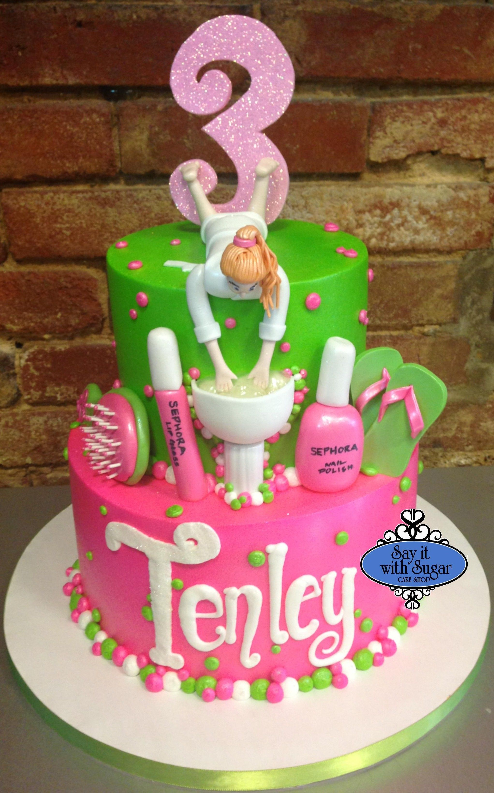 Spa Birthday Cake Cakes By Say It With Sugar Cake Shop - Spa birthday party cake